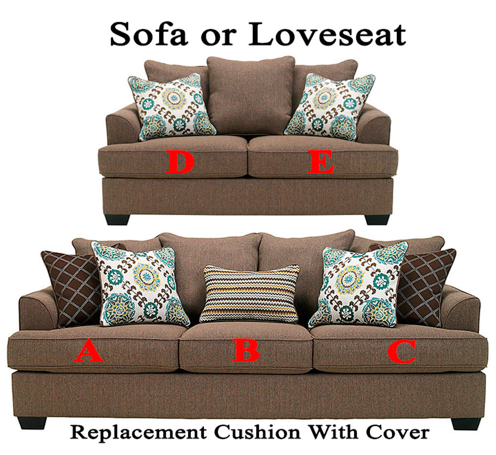 Ashley corley replacement cushion cover 2880038 sofa or 2880035 love Loveseat cushion covers