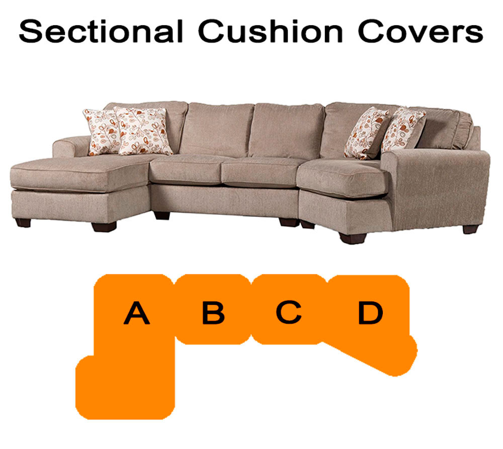 Ashley patola park sectional replacement cushion and for Chaise cushion cover