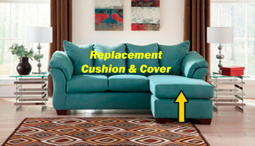 ashley u00ae darcy replacement chaise cushion and cover