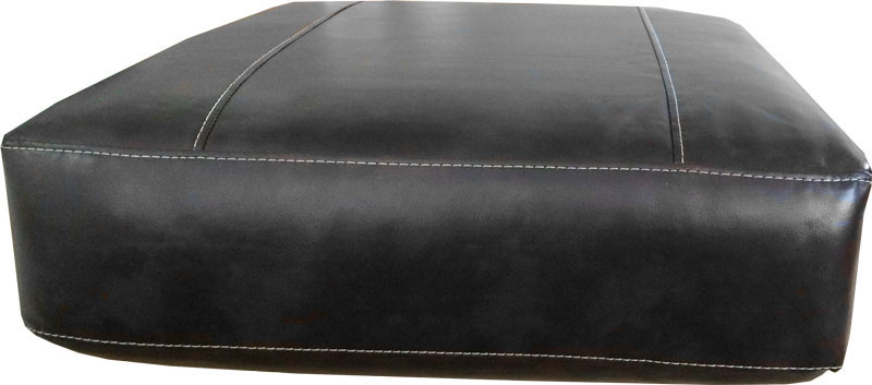 Sofa Cushion Cover Leather: Rectangular Sofa Cushion Cover Bonded Leather in Black with White    ,