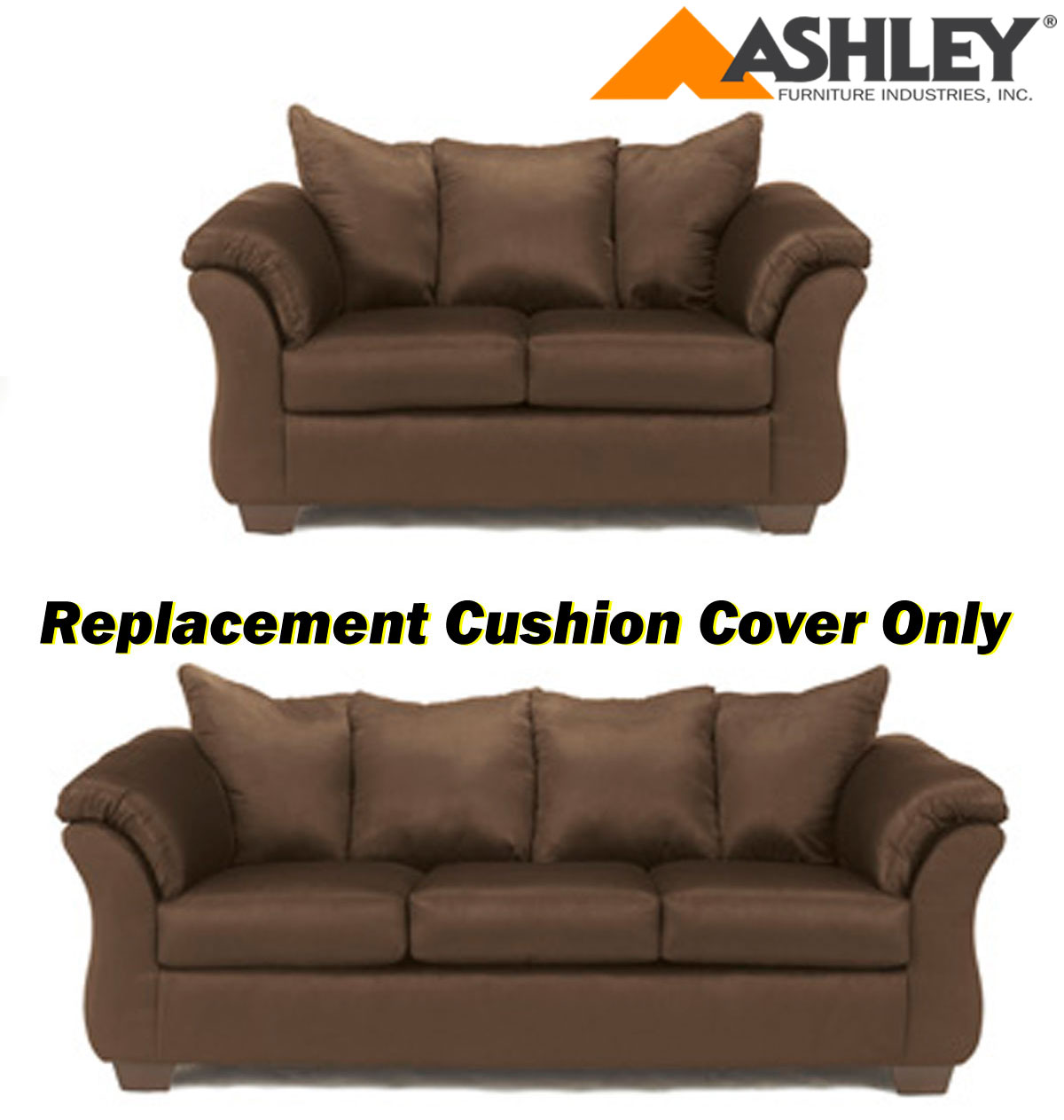 ashley darcy replacement cushion cover only 7500438 or 7500435 caf. Black Bedroom Furniture Sets. Home Design Ideas