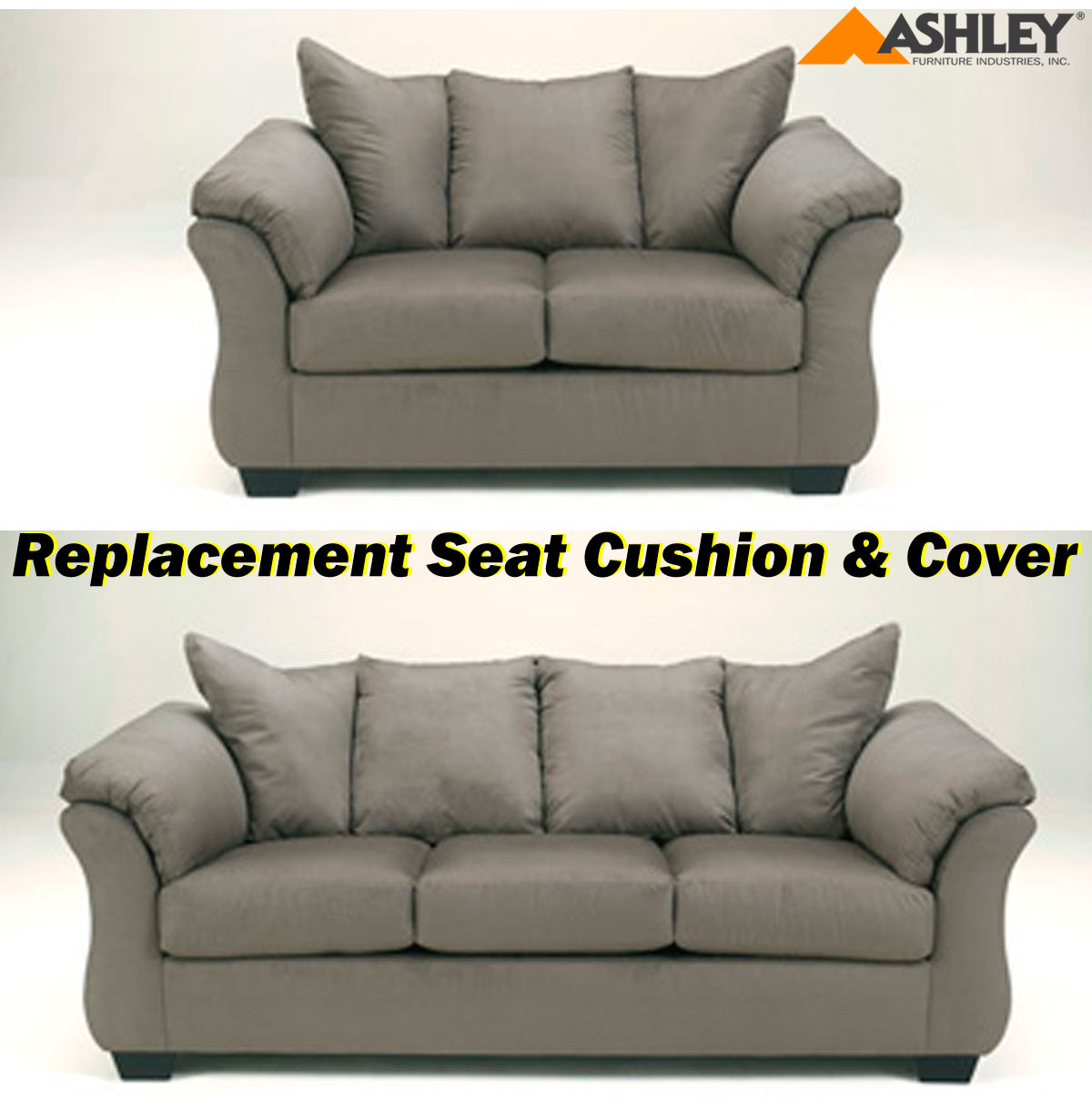 Ashley Darcy Replacement Cushion And Cover 7500538 Or 7500535 Cobblestone