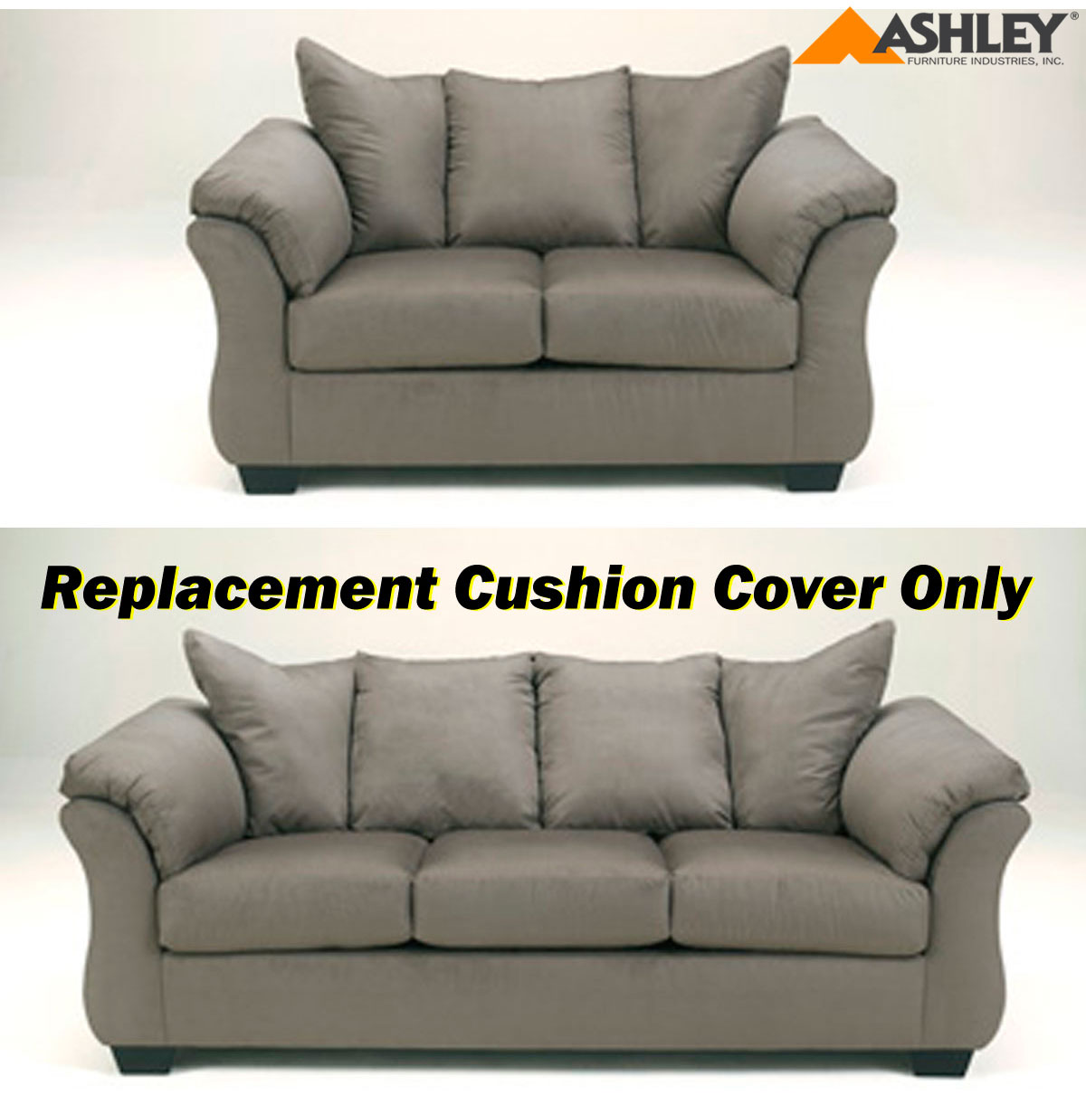 Ashley darcy replacement cushion cover only 7500538 or 7500535 cobblestone Loveseat cushion covers