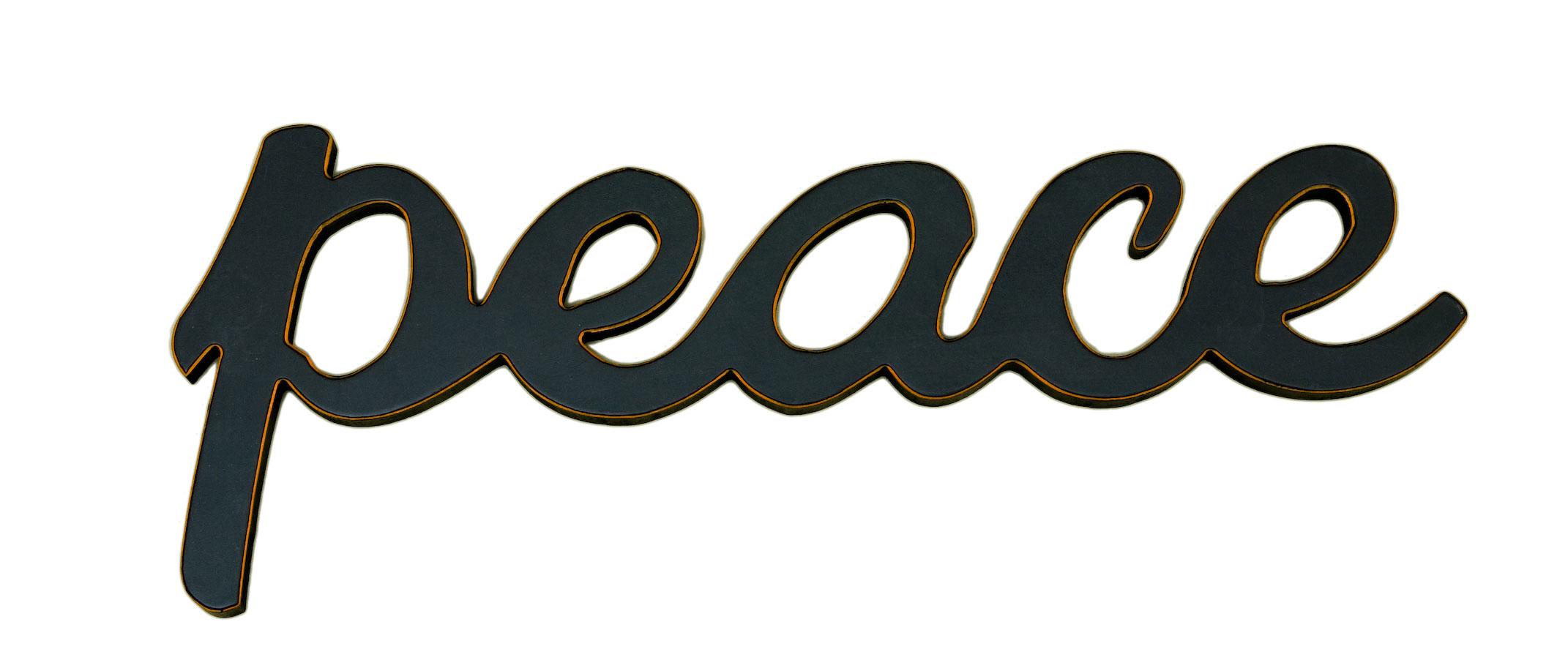 Peace Word Decor