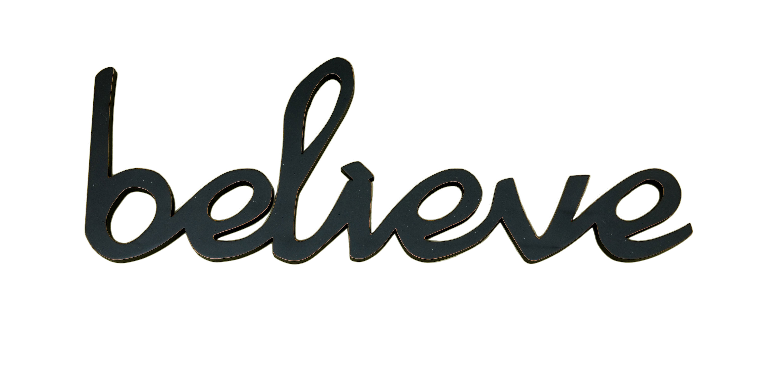 Believe word decor for Decoration word