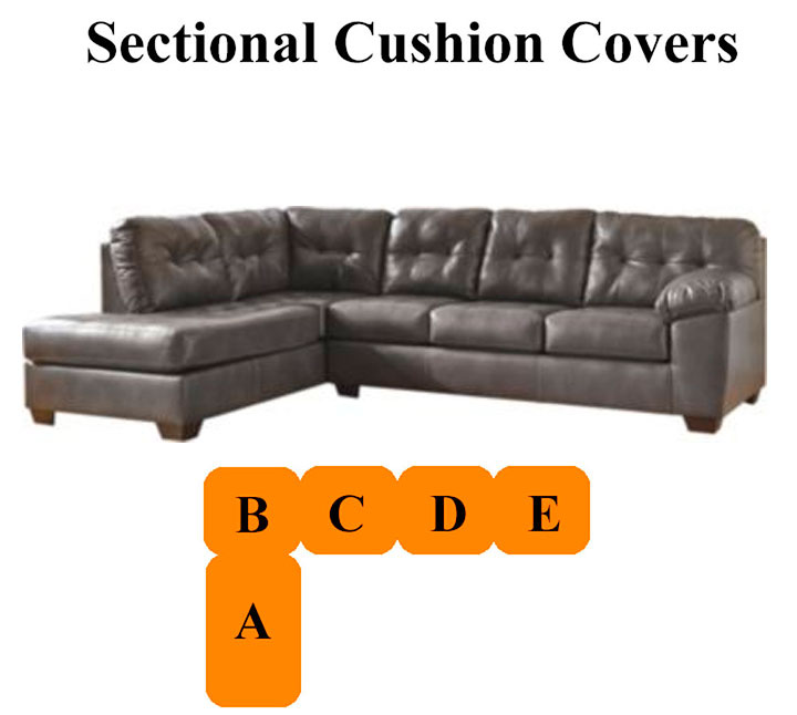 Home u003e Replacement Cushions u003e Replacement Sofa Cushions u003e Ashley® Alliston Grey Sectional replacement cushion and cover 20102  sc 1 st  FineWebStores.com : sectional cushion covers - Sectionals, Sofas & Couches