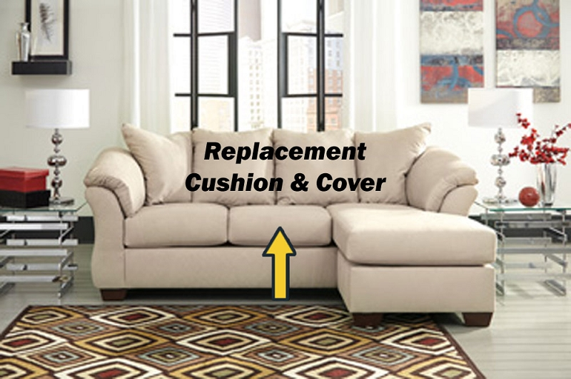 ashley u00ae darcy replacement cushion and cover  7500018 stone