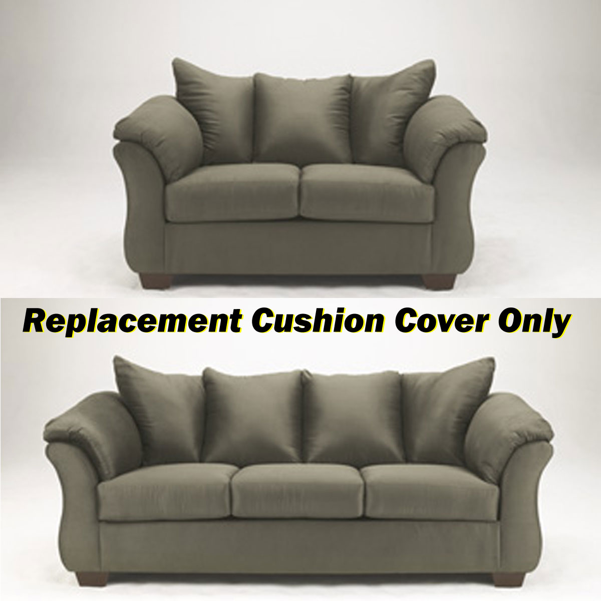 ashley darcy replacement cushion cover only 7500338 or 7500335 sage. Black Bedroom Furniture Sets. Home Design Ideas