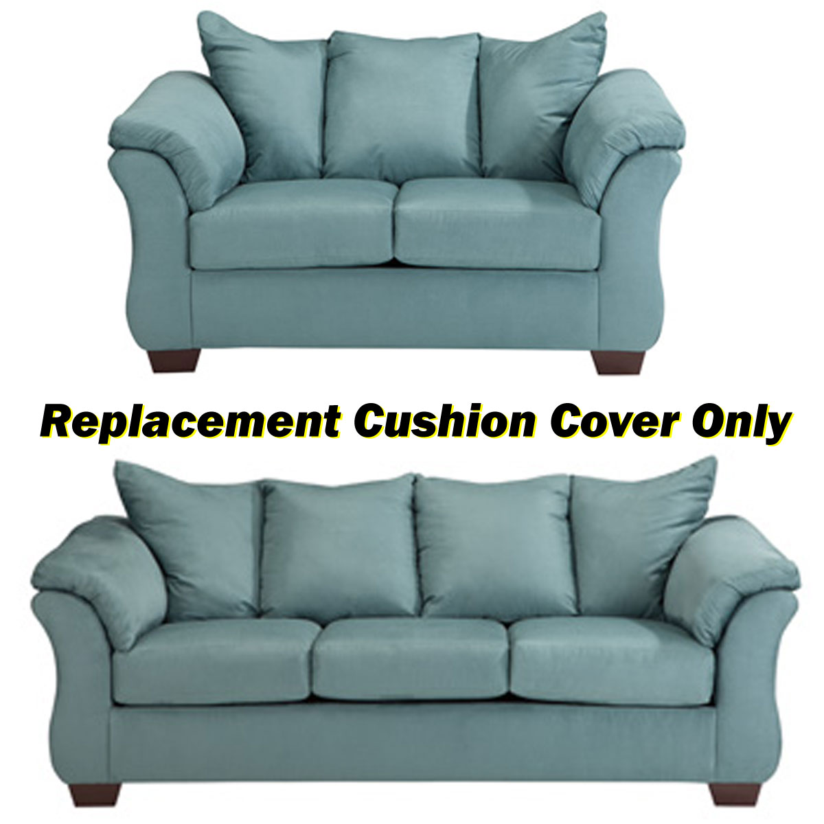 ashley darcy replacement cushion cover only 7500638 or 7500635 sky. Black Bedroom Furniture Sets. Home Design Ideas