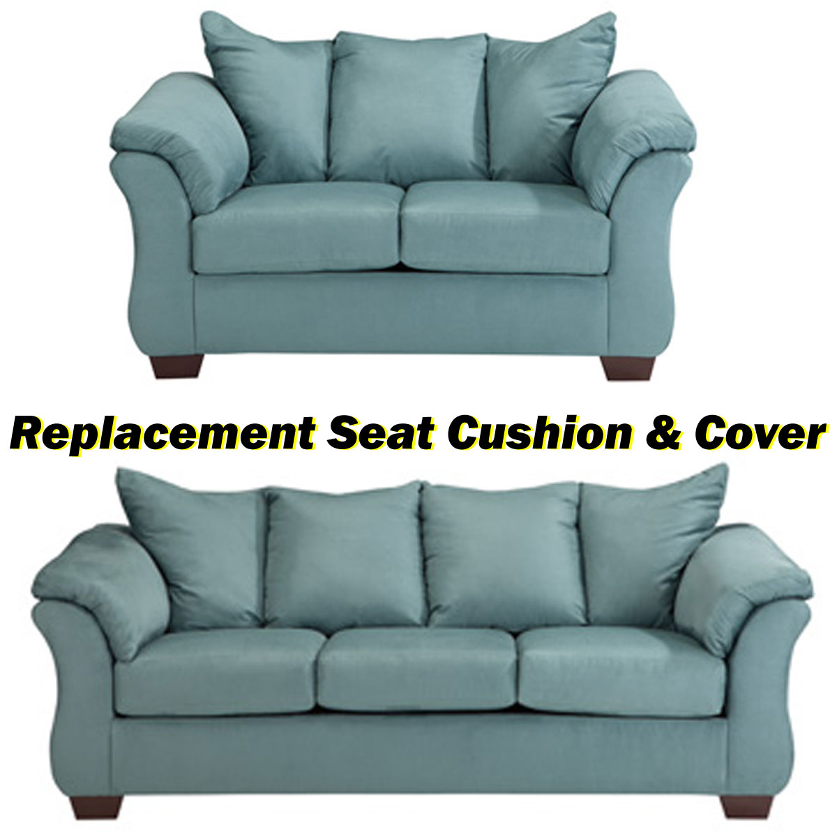 Ashley Darcy Replacement Cushion And Cover 7500638 Or 7500635 Sky