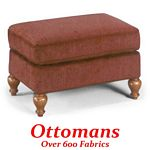Ottoman with Turned Legs
