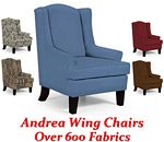 Andrea Queen Anne Wing Back Chair