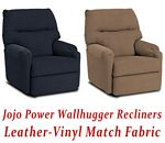 Jojo Power Wallhugger Recliner in Leather-Vinyl Match