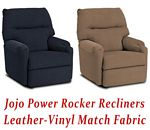 Jojo Power Rocker Recliner in Leather-Vinyl Match