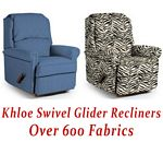 Khloe Swivel Glider Recliner