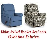 Khloe Swivel Rocker Recliner