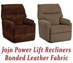Jojo Power Lift Recliner in Bonded Leather
