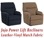 Jojo Power Lift Recliner in Leather-Vinyl Match
