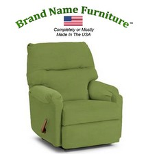 Green Leather Recliner Bonded Wallhugger