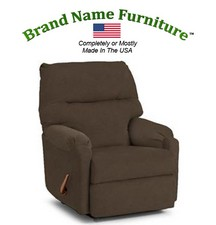 Brown Leather Recliner Bonded Wallhugger