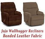 Jojo Wallhugger Recliner in Bonded Leather