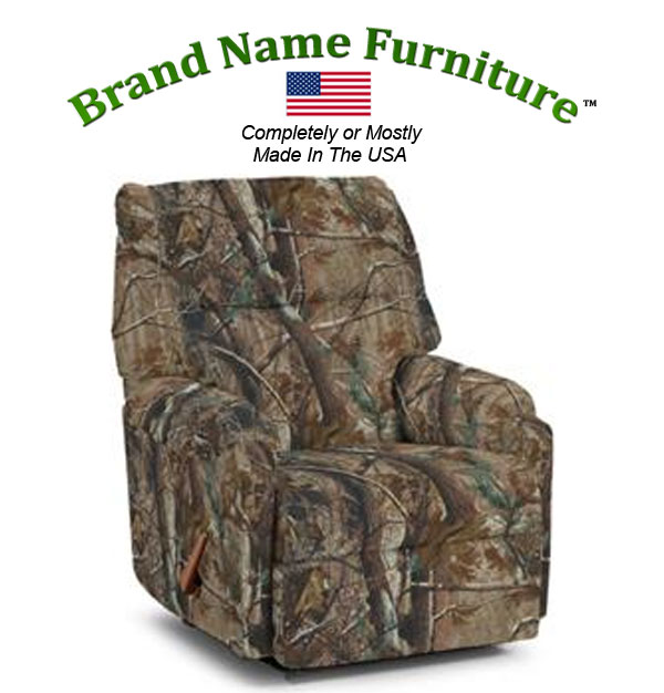 Camouflage Recliner Rocker in Realtree® AP Hardwoods