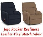 Jojo Rocker Recliner in Leather-Vinyl Match