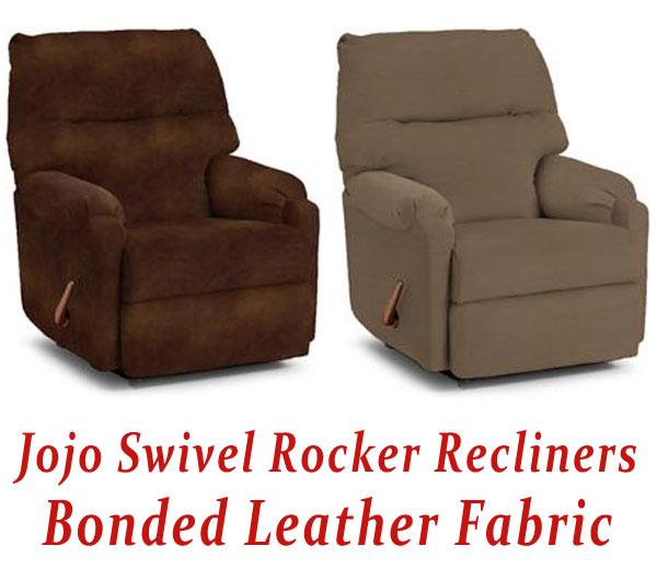 small recliners jojo swivel rocker recliner in bonded leather