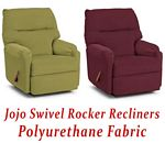 Jojo Swivel Rocker Recliner in Polyurethane