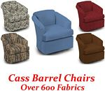 Cass Swivel Glider Barrel Chair