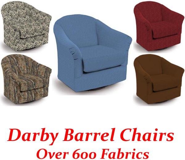 darby swivel glider barrel chair