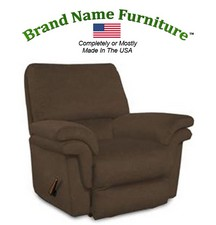 Brown Leather Recliner Bonded Rocker