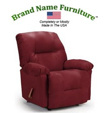 Red Leather Recliner Bonded Wallhugger