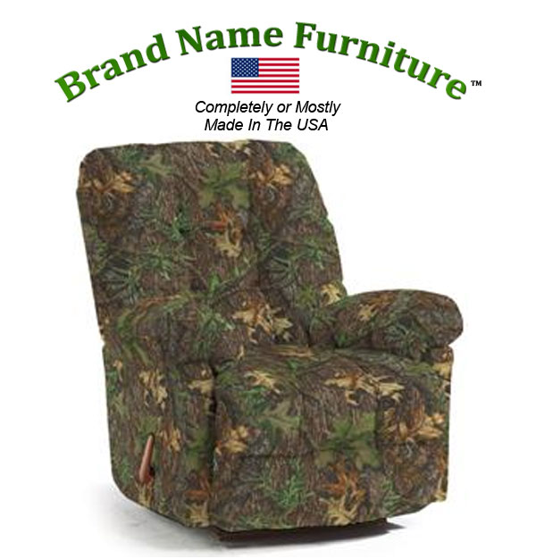 Camouflage Recliner Rocker in Mossy Oak® Obsession