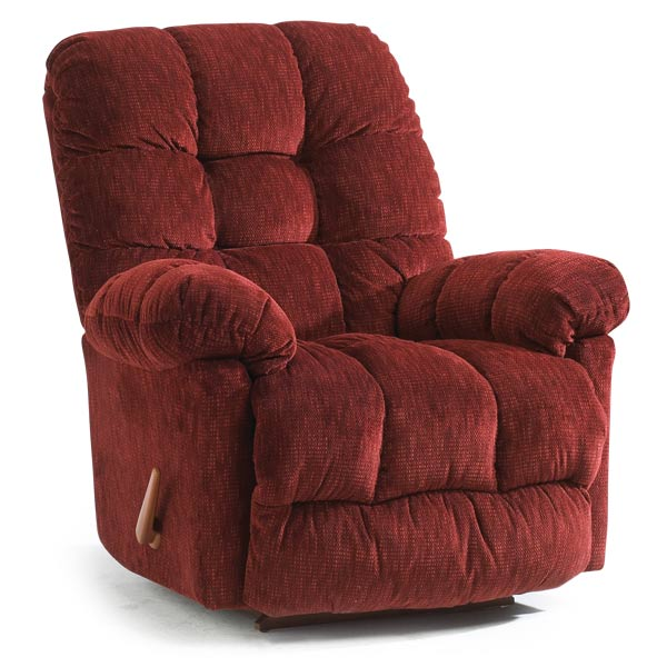 Brosmer Heat And Massage Swivel Rocker Recliner