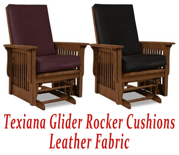 Glider Rocker Cushions for Texiana Chair in Leather