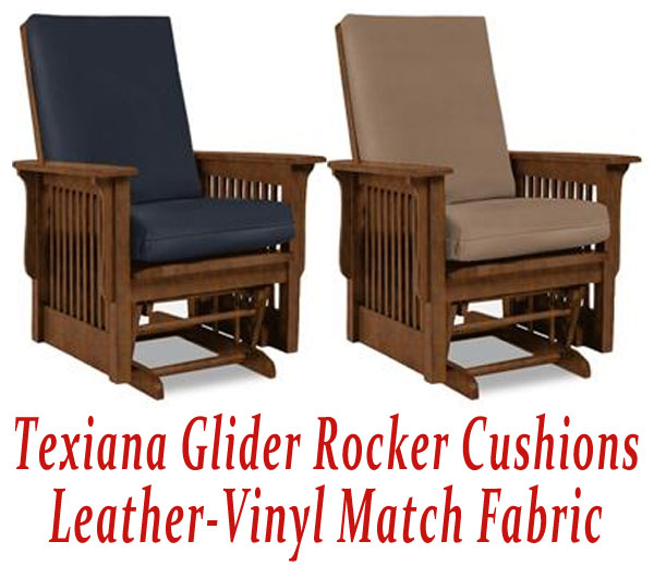 Ordinaire Glider Rocker Cushions For Texiana Chair In Leather Vinyl Match