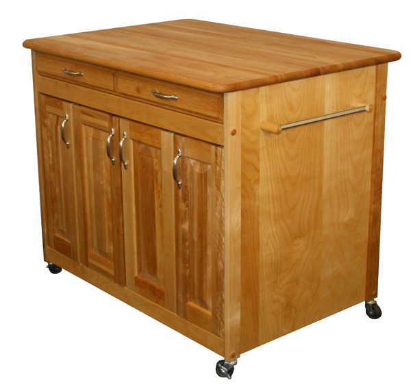 Super Plus Butcher Block Kitchen Island