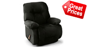 Black Leather Recliners Bonded