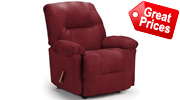 Red Leather Recliners Bonded