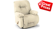 White Leather Recliners Bonded