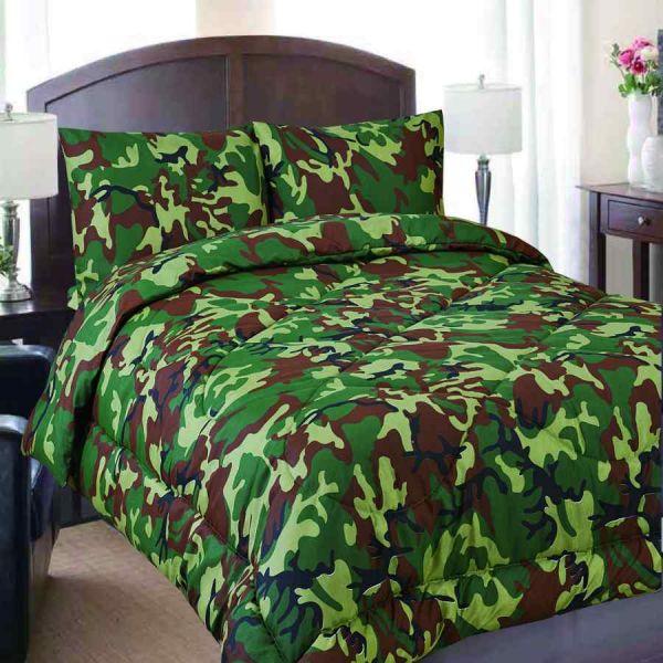 Queen Military Camouflage Reversible Comforter
