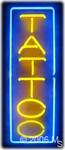 Tattoo (vertical) Neon Sign
