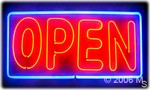 OPEN (Double Stroke) Neon Sign