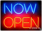 NOW OPEN Neon Sign