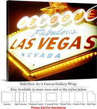 Las Vegas The Strip American Landmark in Nevada-4 Canvas Wrap 24