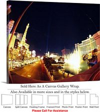 Las Vegas The Strip American Landmark in Nevada-16 Canvas Wrap 30