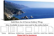Big Sur Rock Forms on Coastal California Landscape Canvas Wrap 48