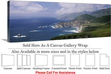 Big Sur Rock Formations California Coast Landscape Canvas Wrap 48