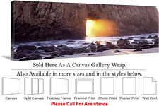 Big Sur Pfeiffer Rocky Beach California Landscape Canvas Wrap 48
